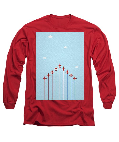 Raf Red Arrows In Formation Long Sleeve T-Shirt