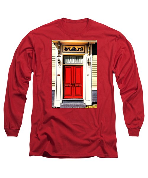 Long Sleeve T-Shirt featuring the photograph Red Door by Rick Bragan