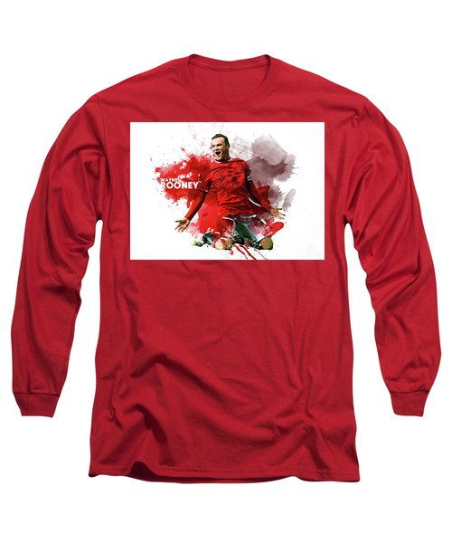Wayne Rooney Long Sleeve T-Shirt by Semih Yurdabak