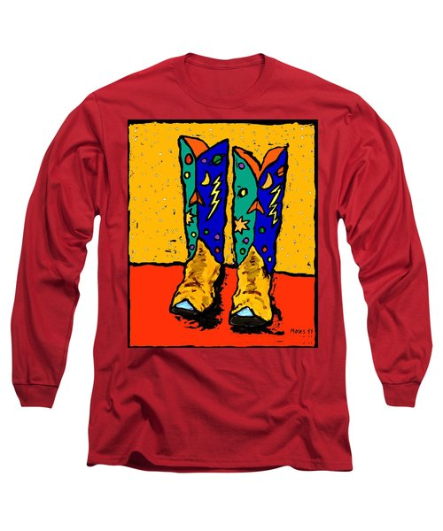 30x36  Boots On Yellow Long Sleeve T-Shirt
