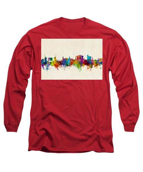Fayetteville Arkansas Skyline Long Sleeve T-Shirt