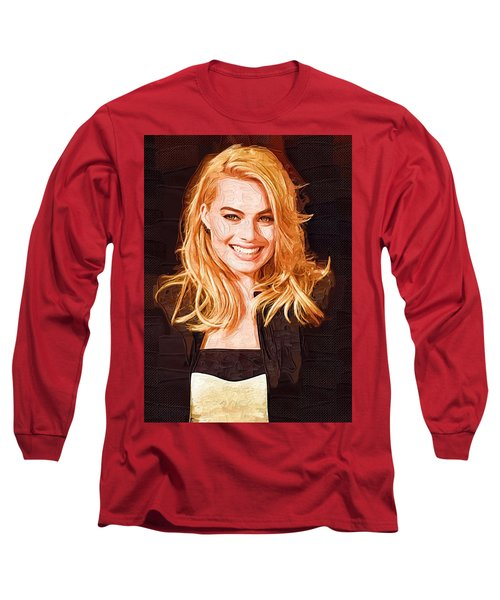 Margot Robbie Painting Long Sleeve T-Shirt
