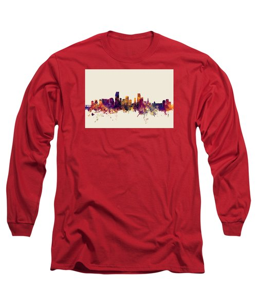 Miami Florida Skyline Long Sleeve T-Shirt