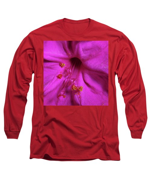 Long Sleeve T-Shirt featuring the photograph 4 O'clock Bloom by Richard Rizzo