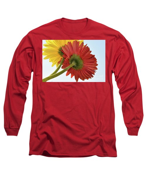 Red And Yellow Long Sleeve T-Shirt by Elvira Ladocki