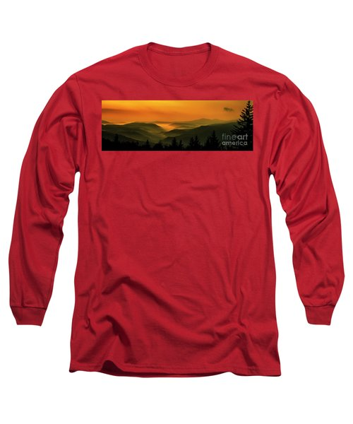 Long Sleeve T-Shirt featuring the photograph Allegheny Mountain Sunrise by Thomas R Fletcher