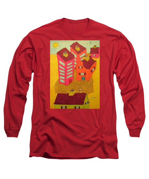 5 Bldgs Cat On One Roof Long Sleeve T-Shirt