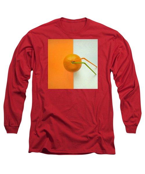 Orange Long Sleeve T-Shirt by Ann Foo