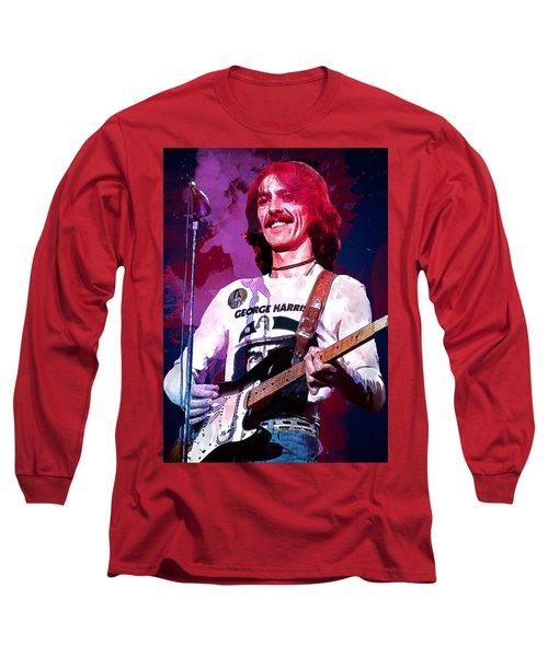 George Harrison. The Beatles. Long Sleeve T-Shirt