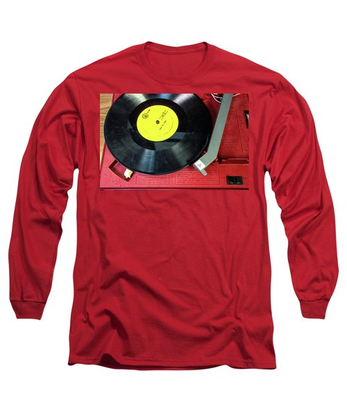 Long Sleeve T-Shirt featuring the photograph 8 Rpm Record Player by Gary Slawsky