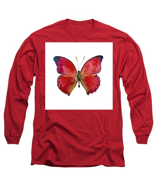 83 Red Glider Butterfly Long Sleeve T-Shirt