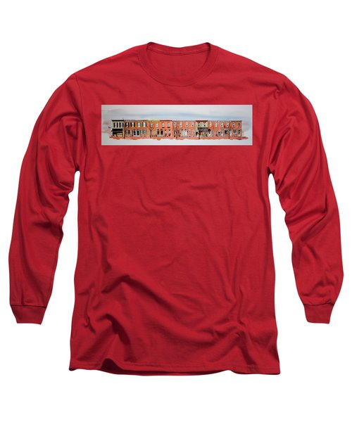 A Bit Of Scott Street  7x30 Long Sleeve T-Shirt by William Renzulli