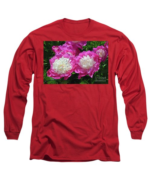 A Bouquet Of Peonies Long Sleeve T-Shirt by Eva Kaufman