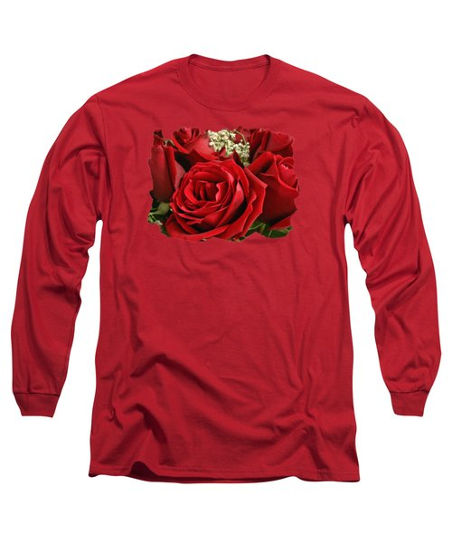 A Bouquet Of Red Roses Long Sleeve T-Shirt