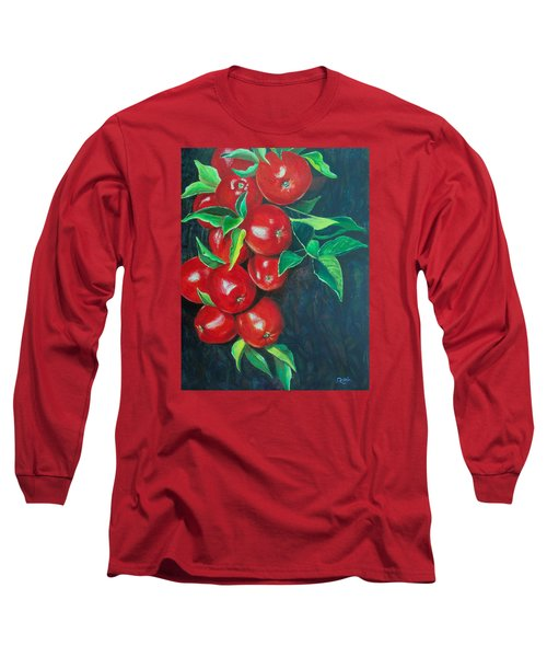 Long Sleeve T-Shirt featuring the painting A Bumper Crop by Susan DeLain