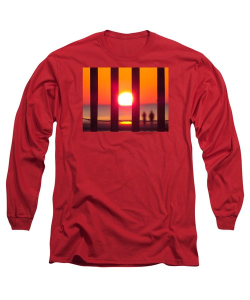 Long Sleeve T-Shirt featuring the photograph A Couple's Sunrise by Nikki McInnes