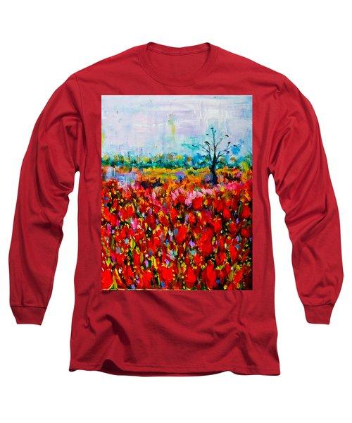 A Field Of Flowers # 2 Long Sleeve T-Shirt