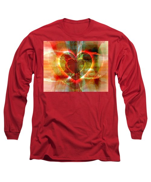 A Forgiving Heart Long Sleeve T-Shirt by Fania Simon