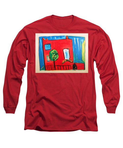 Long Sleeve T-Shirt featuring the painting A House With A Smile To Give by Mary Carol Williams
