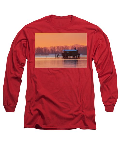 A Hut On The Water Long Sleeve T-Shirt