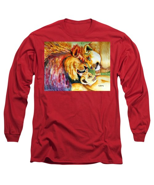 A Lion's Pride Long Sleeve T-Shirt by Maria Barry