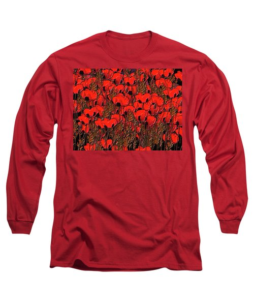 A Little Family Gathering Of Poppies Long Sleeve T-Shirt