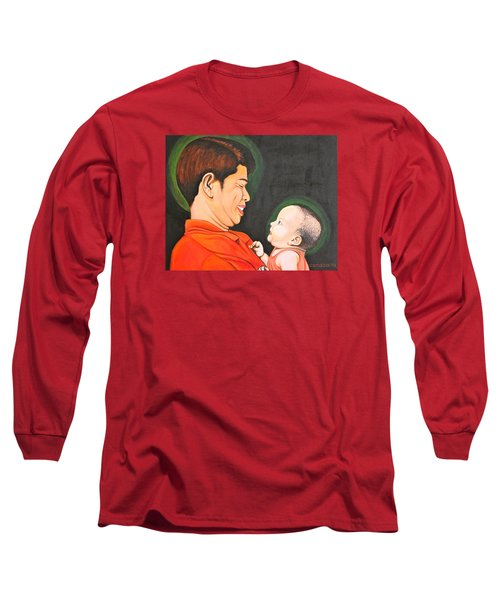 A Moment With Dad Long Sleeve T-Shirt by Cyril Maza