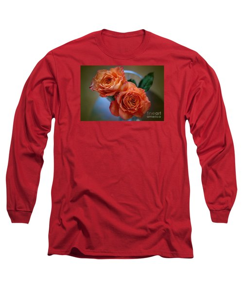 Long Sleeve T-Shirt featuring the photograph A Peach Delight by Diana Mary Sharpton