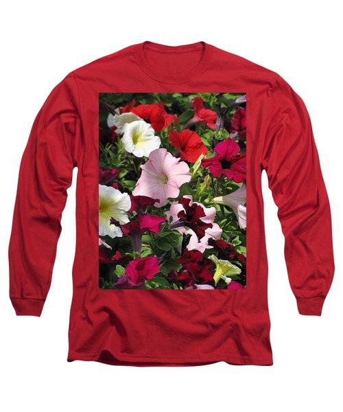 A Plethora Of Petunias Long Sleeve T-Shirt