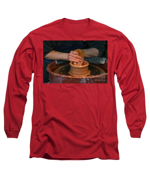 A Potter's Hands Long Sleeve T-Shirt by Marie Neder