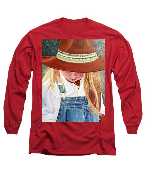 A Real Cowgirl Long Sleeve T-Shirt