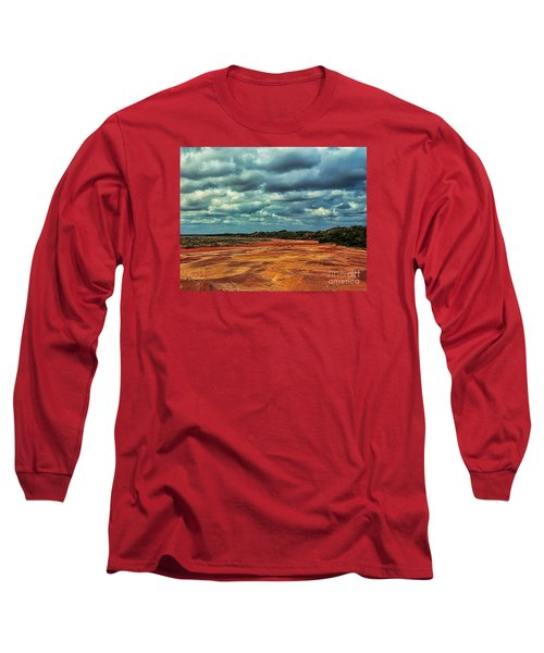 Long Sleeve T-Shirt featuring the photograph A River Of Red Sand by Diana Mary Sharpton