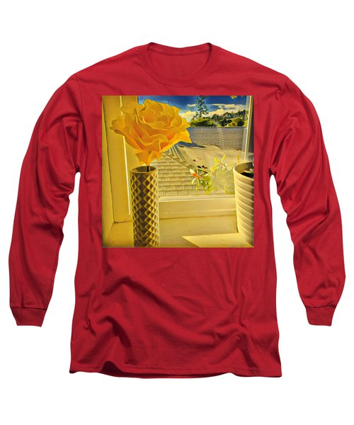 A Rose Is A Rose Electric Long Sleeve T-Shirt