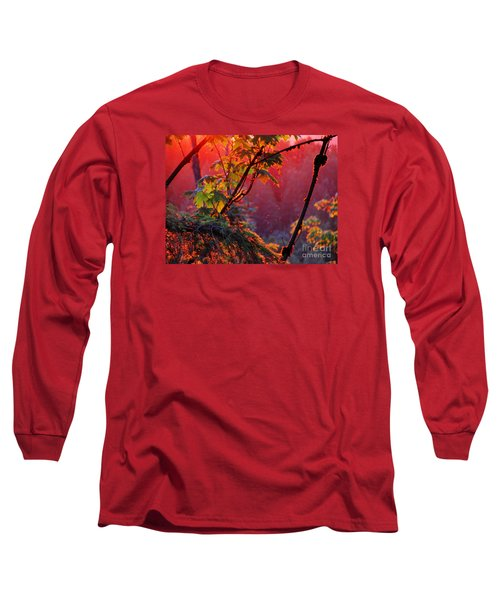 A Season's  Sunset Dusting Long Sleeve T-Shirt by Natalie Ortiz