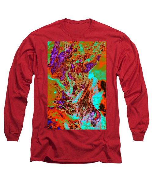 A Splash Of Color In The Weeds Long Sleeve T-Shirt