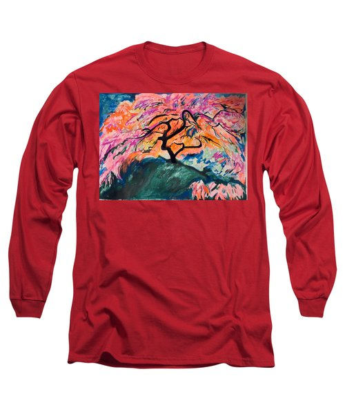 A Splendid Japanese Maple Tree Long Sleeve T-Shirt