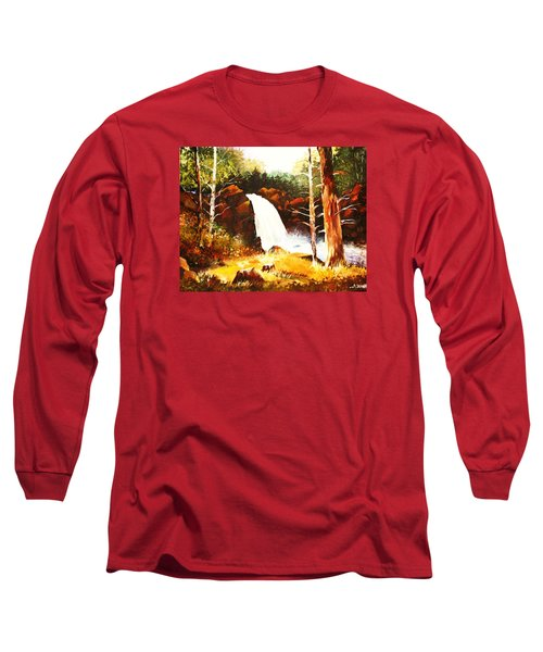 A Spout In The Forest Ll Long Sleeve T-Shirt by Al Brown