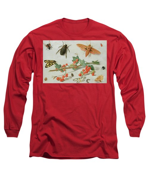 A Sprig Of Redcurrants With An Elephant Hawk Moth, A Magpie Moth And Other Insects, 1657 Long Sleeve T-Shirt