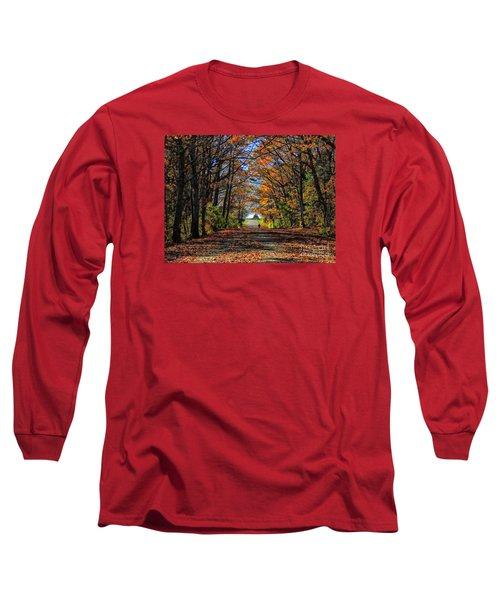 A Stroll Through Autumn Colors Long Sleeve T-Shirt by Marcia Lee Jones