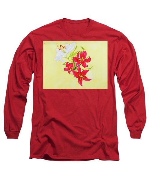 A Study Of Lilies Long Sleeve T-Shirt
