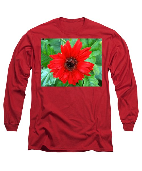 Long Sleeve T-Shirt featuring the photograph A True Red by Sandi OReilly