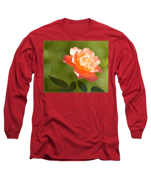 Long Sleeve T-Shirt featuring the photograph A Well Lighted Rose by AJ Schibig