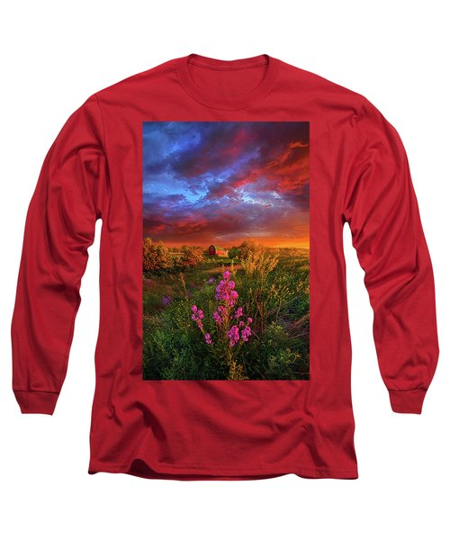 Long Sleeve T-Shirt featuring the photograph A Wisconsin Story by Phil Koch