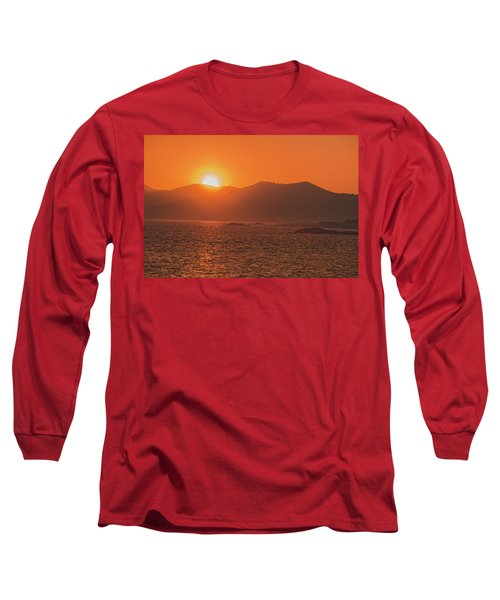 A Wraith Of Smoke Shortly After A Forest Fire Is Extinguished  Long Sleeve T-Shirt