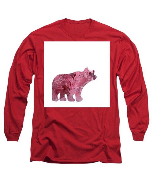 Abstract Acrylic Painting Bear Long Sleeve T-Shirt