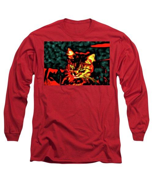 Abstract Cat Long Sleeve T-Shirt