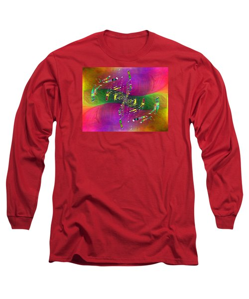 Long Sleeve T-Shirt featuring the digital art Abstract Cubed 357 by Tim Allen
