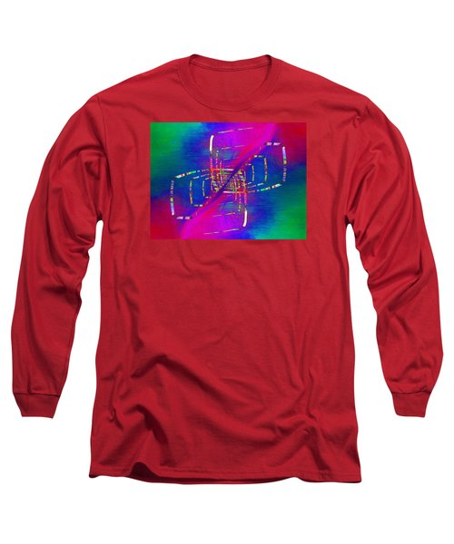 Long Sleeve T-Shirt featuring the digital art Abstract Cubed 363 by Tim Allen