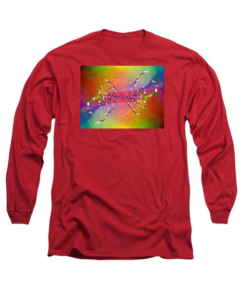 Long Sleeve T-Shirt featuring the digital art Abstract Cubed 364 by Tim Allen