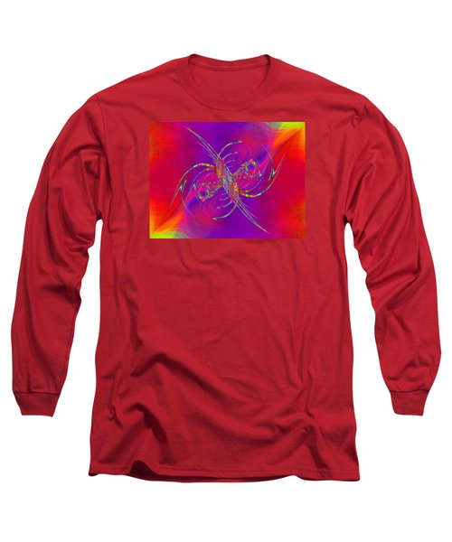 Long Sleeve T-Shirt featuring the digital art Abstract Cubed 365 by Tim Allen